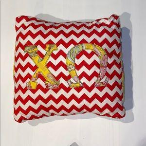 Chi Omega Decorative Pillow
